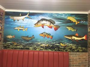 adesivo mar parede peixes
