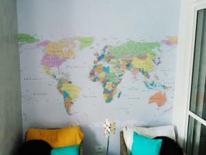 adesivo mapa mundi parede curitiba