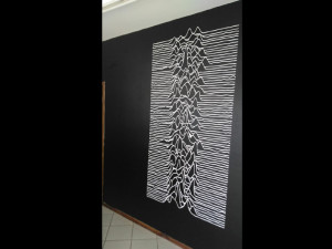 parede joy division unknown pleasures paidosadesivos